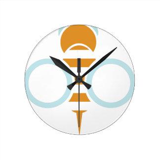Relógio Redondo Símbolo da abelha