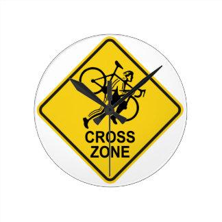 Relógio Redondo Sinal de estrada da zona de Cyclocross