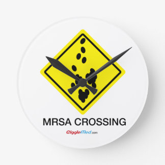 Relógio Redondo Sinal do cruzamento de MRSA