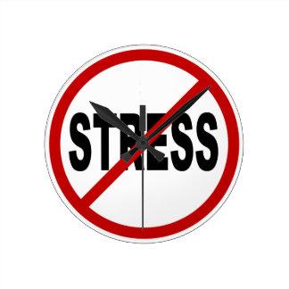 Relógio Redondo Sinal permitido esforço do ódio Stress/No