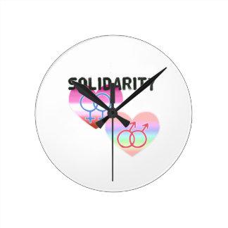 Relógio Redondo Solidariedade alegre lésbica