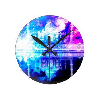 Relógio Redondo Sonhos de Taj Mahal do céu da criação