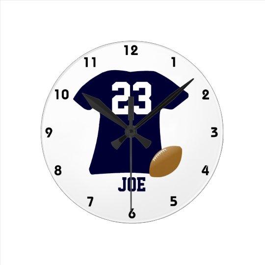 Relógio Redondo Sua camisa do futebol com bola
