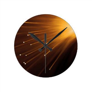 Relógio Redondo Sumário da fibra óptica