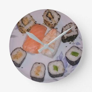 Relógio Redondo SUSHI! by Louis Glineur - Food
