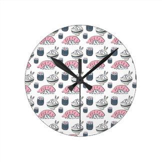 Relógio Redondo Sushi de Nigiri
