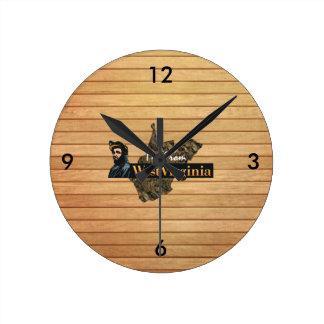 Relógio Redondo T eu sou de West Virginia
