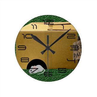 Relógio Redondo Tapete do rato