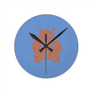 Relógio Redondo Tatuagens tribais Exquisitely brincalhão