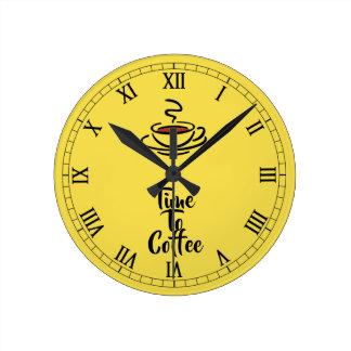 Relógio Redondo Tempo ao pulso de disparo de parede do café