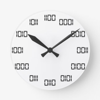 Relógio Redondo Tempo binário