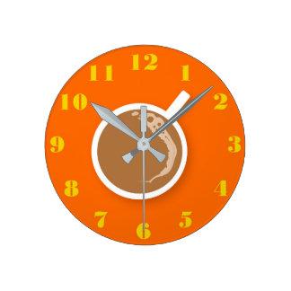 Relógio Redondo Tempo do café