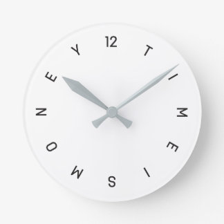 Relógio Redondo Tempo é dinheiro - pulso de disparo de parede