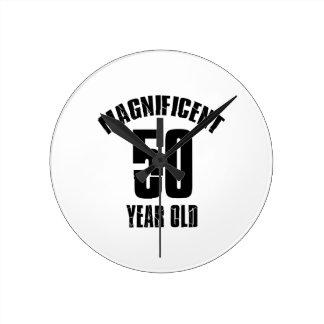Relógio Redondo TENDENDO o DESIGN do ANIVERSÁRIO das pessoas de 50