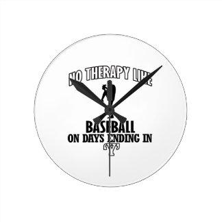 Relógio Redondo Tendendo o design do basebol