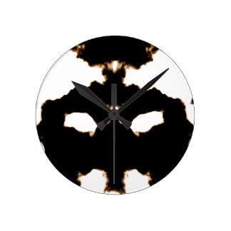 Relógio Redondo Teste de Rorschach de um cartão da mancha da tinta