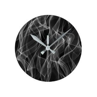 Relógio Redondo Teste padrão abstrato preto e branco na moda