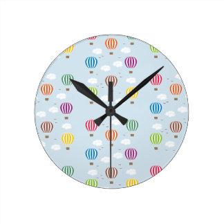 Relógio Redondo Teste padrão dos balões de ar