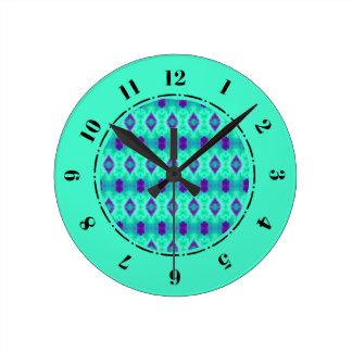 Relógio Redondo Teste padrão IIII da aguarela