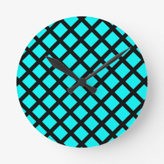 Relógio Redondo Teste padrão preto do Aqua
