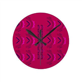 Relógio Redondo Textura luxuosa de oriente do vinho