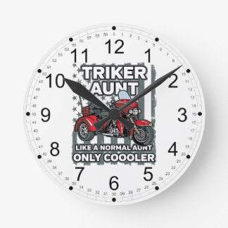 Relógio Redondo Tia de Triker da motocicleta