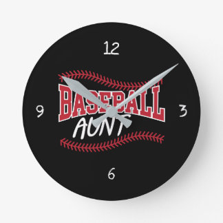 Relógio Redondo Tia do basebol