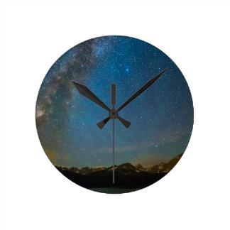 Relógio Redondo Tipo da Via Láctea de Colorado da noite