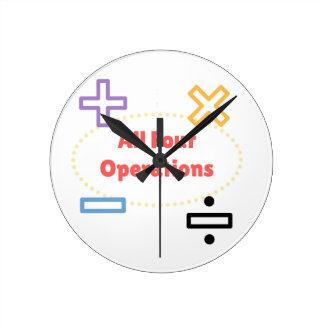Relógio Redondo Todas as quatro operações