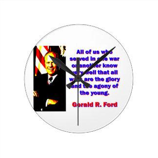 Relógio Redondo Todos nós que serviu - Gerald Ford