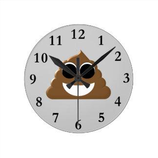 Relógio Redondo Tombadilho engraçado Emoji