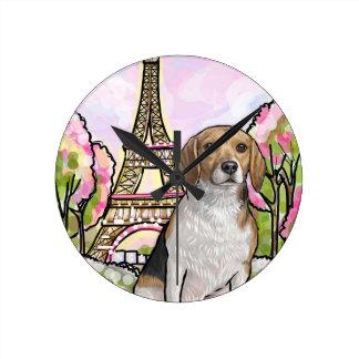 Relógio Redondo torre Eiffel Paris do lebreiro