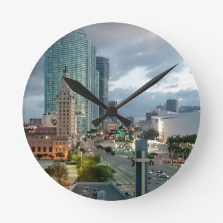 Relógio Redondo Torre mundialmente famosa de Freeom do cubano em