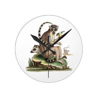 Relógio Redondo Trabalhos de arte do Lemur