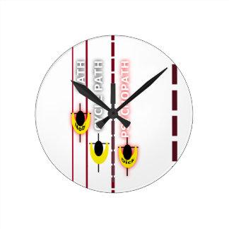Relógio Redondo trajeto do psycle