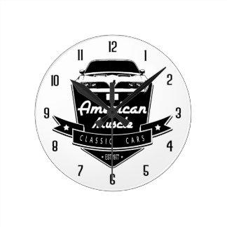 Relógio Redondo Transporte americano Am do músculo