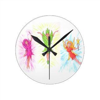 Relógio Redondo Três fadas
