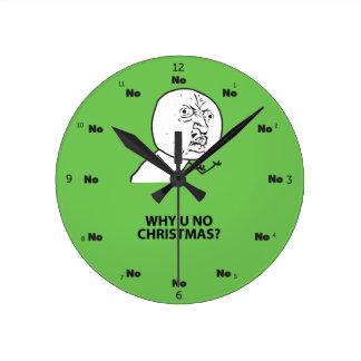 Relógio Redondo Troll de LeMe Memes do troll PORQUE VOCÊ NENHUM