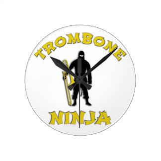 Relógio Redondo Trombone Ninja