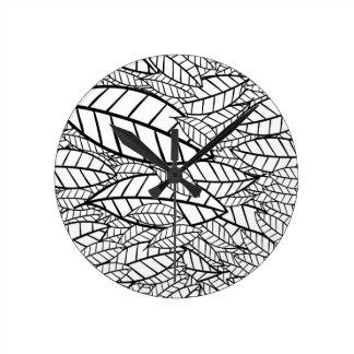 Relógio Redondo tropical grande
