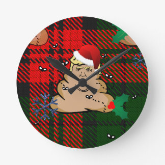 Relógio Redondo trunfo da descarga do Natal