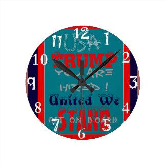 Relógio Redondo Trunfo dos EUA você é contratado! Unido nós