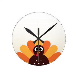 Relógio Redondo Tshirt dos desenhistas com Turquia