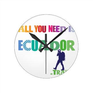 Relógio Redondo Tudo que você precisa é Ecuador_Travel