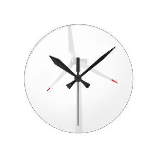 Relógio Redondo Turbina eólica moderna