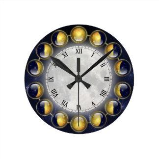 Relógio Redondo Um mês na vida do pulso de disparo da lua