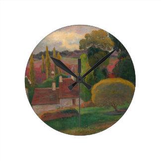Relógio Redondo Uma fazenda em Brittany - Paul Gauguin