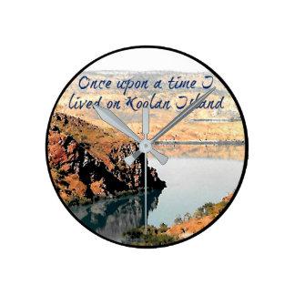 Relógio Redondo Uma vez eu vivi no pulso de disparo da ilha de