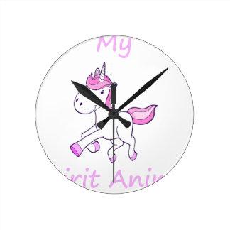 Relógio Redondo unicorn8
