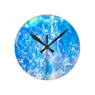 Relógio Redondo Unicórnio da aguarela com ilustração estrelado dos
